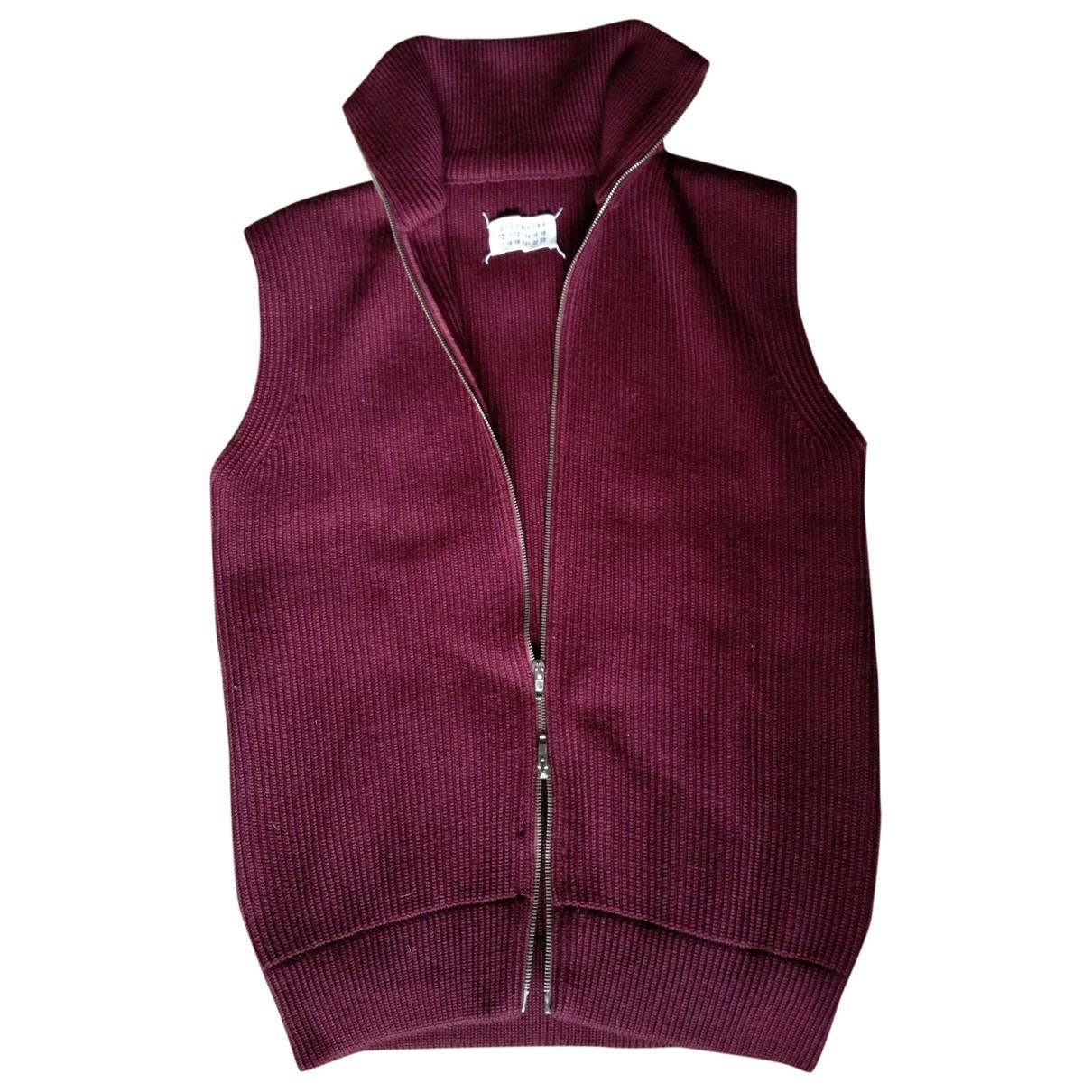Maison Martin Margiela \N Pullover.Westen.Sweatshirts  in  Bordeauxrot Wolle