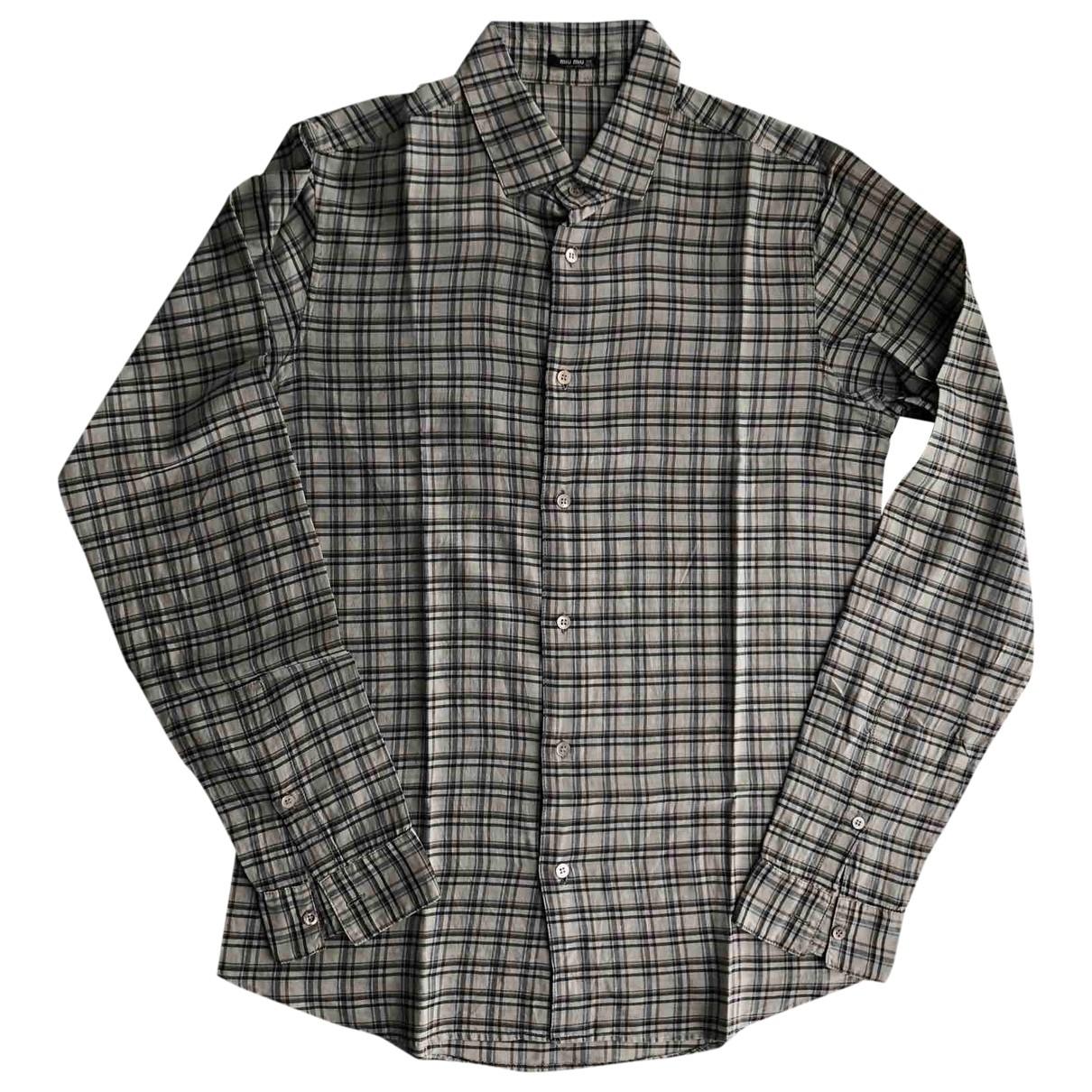 Miu Miu \N Hemden in  Braun Baumwolle