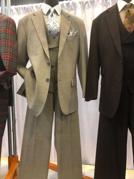 Mens  Notch Lapel Den Suit