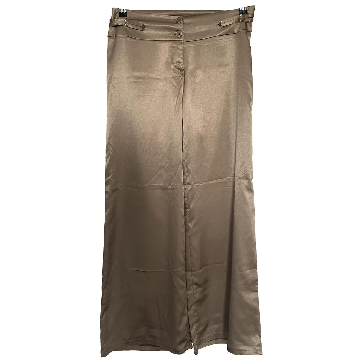 Pantalon largo de Seda Non Signe / Unsigned