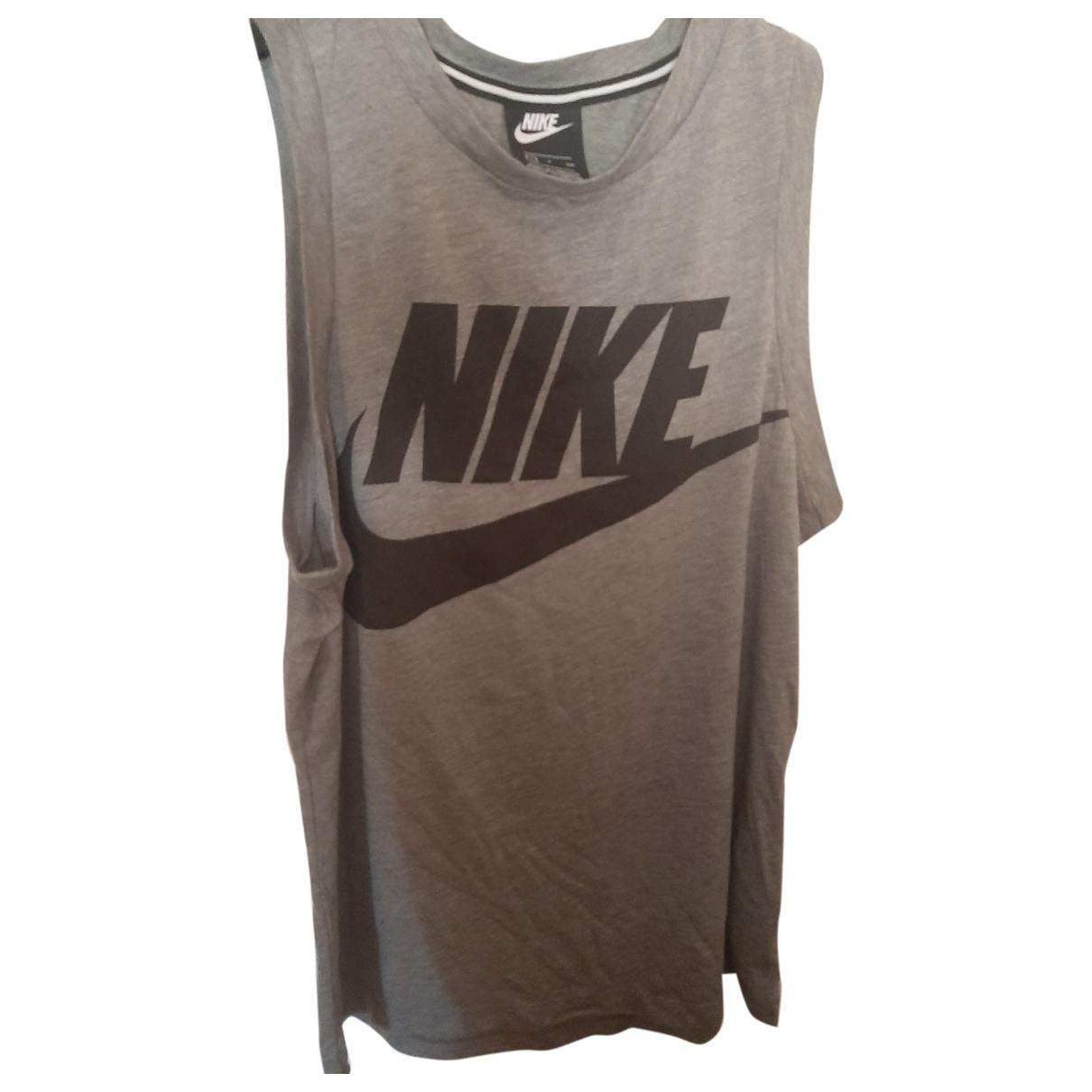 Nike - Top   pour femme en coton - gris