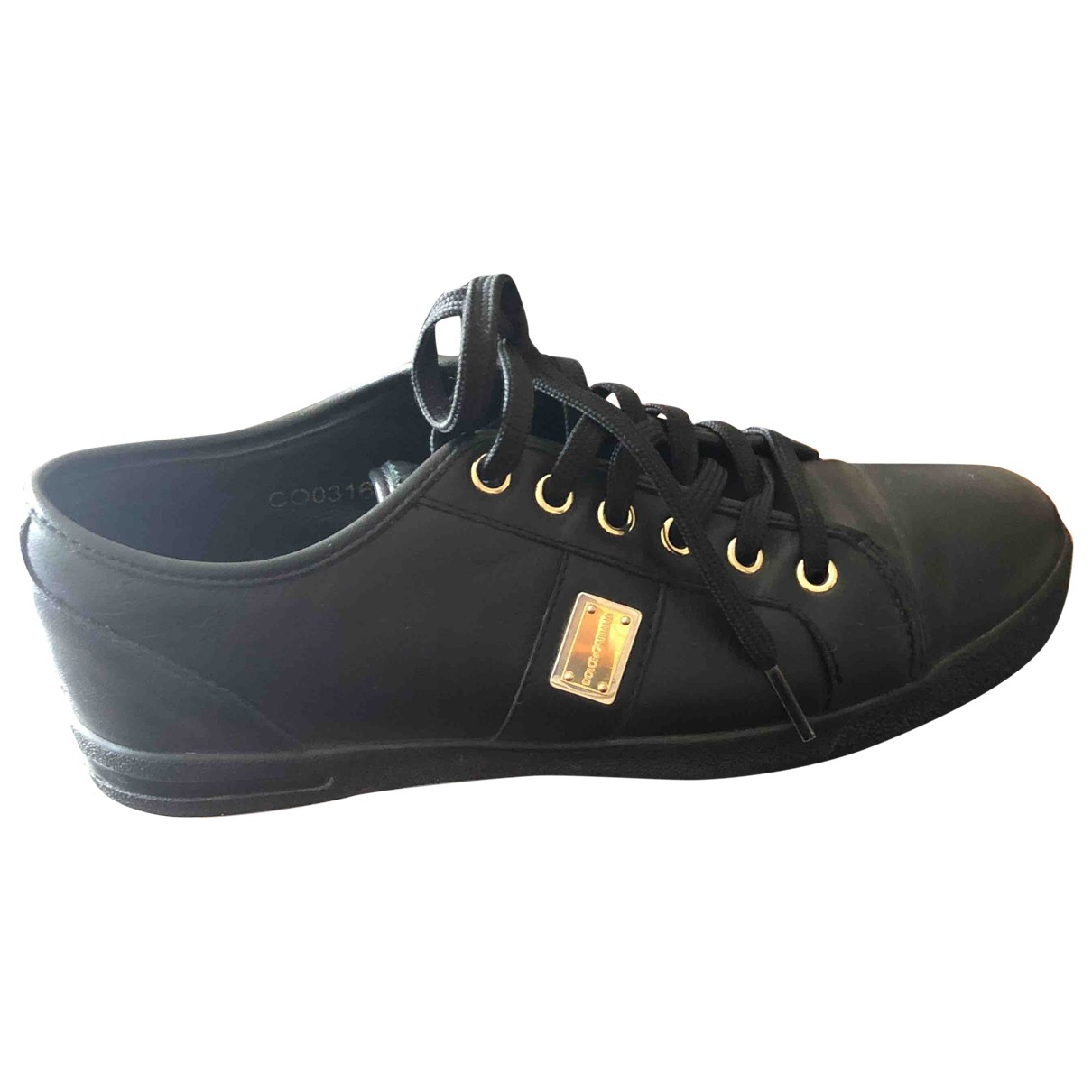 Dolce & Gabbana \N Black Leather Trainers for Women 36 EU