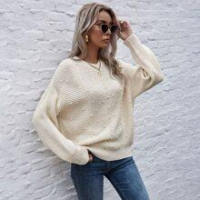 Pearls Beaded Drop Shoulder Sweater