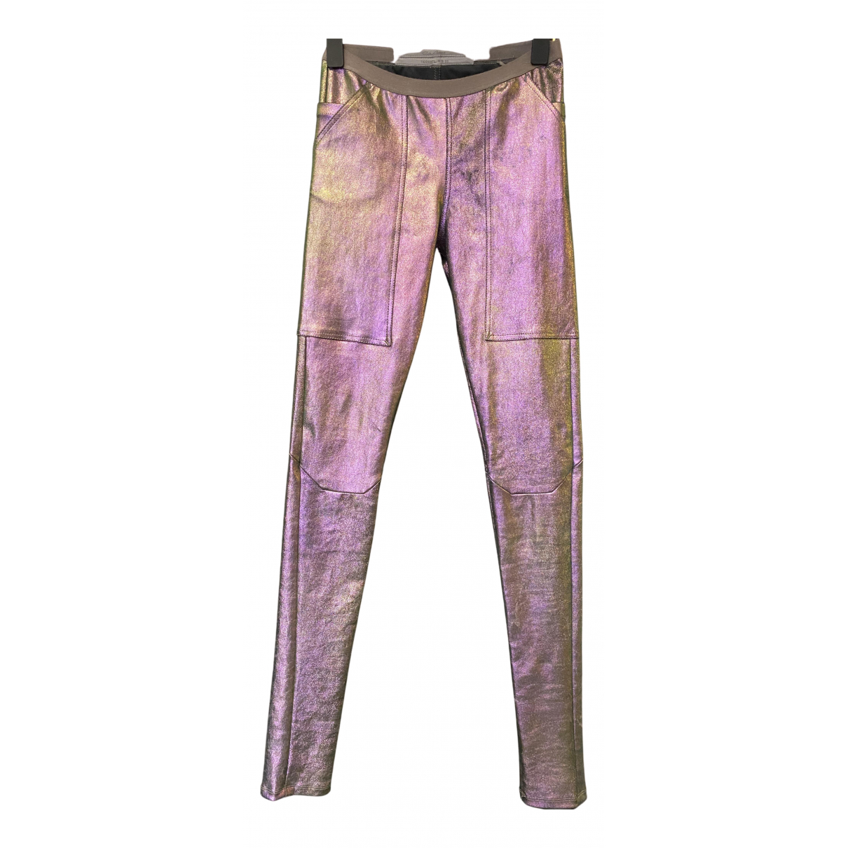 Rick Owens N Multicolour Leather Trousers for Women 40 IT