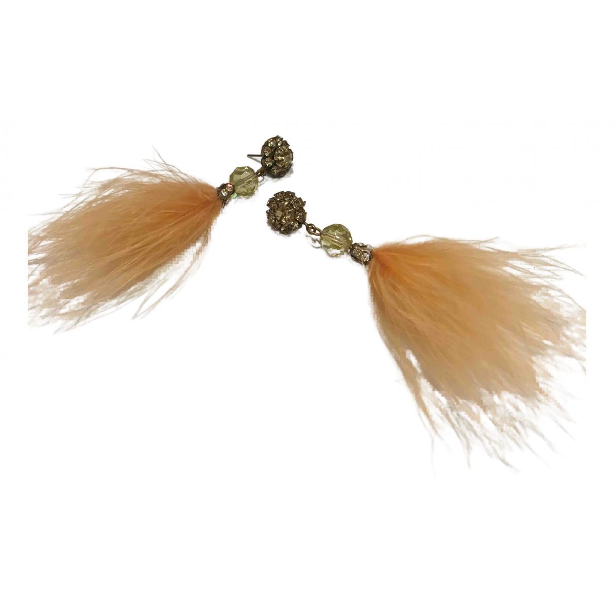 - Boucles doreilles   pour femme en cristal - jaune