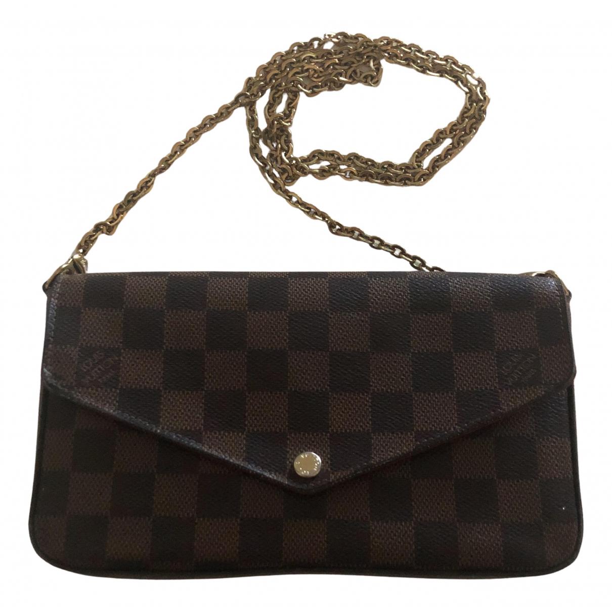 Louis Vuitton - Pochette Felicie pour femme en toile - marron
