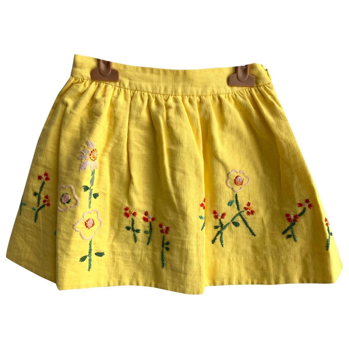 Falda de Lino Bonpoint