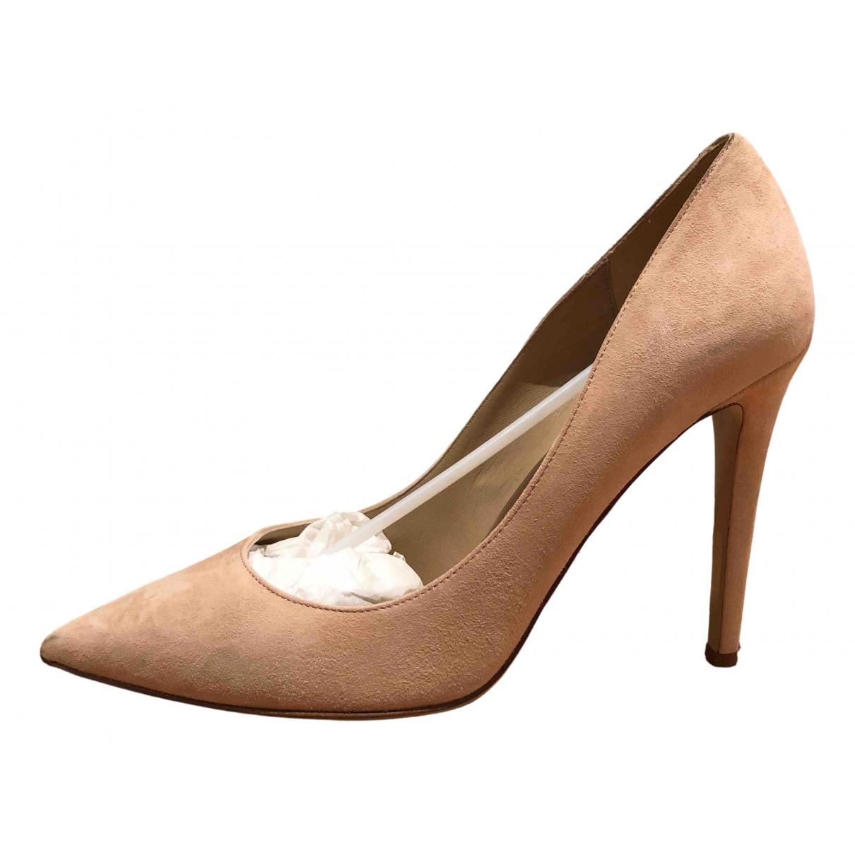 Diane Von Furstenberg \N Pink Suede Heels for Women 10 US