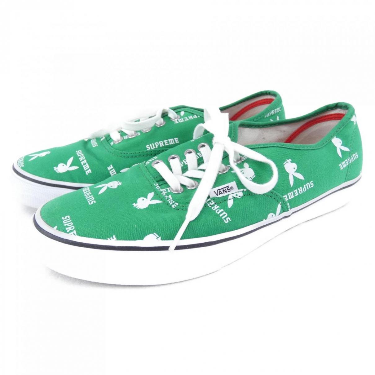 Vans X Supreme - Baskets   pour homme en toile - vert