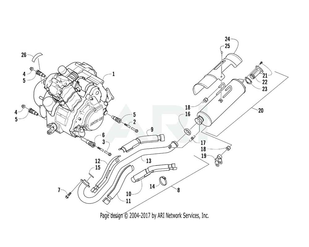Arctic Cat OEM 0800-073 Engine A550F H1 Assembly (Fis)