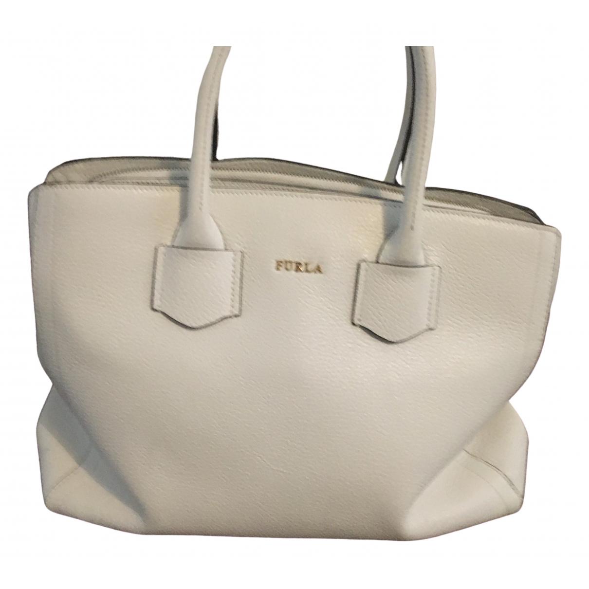 Furla \N White Leather handbag for Women \N
