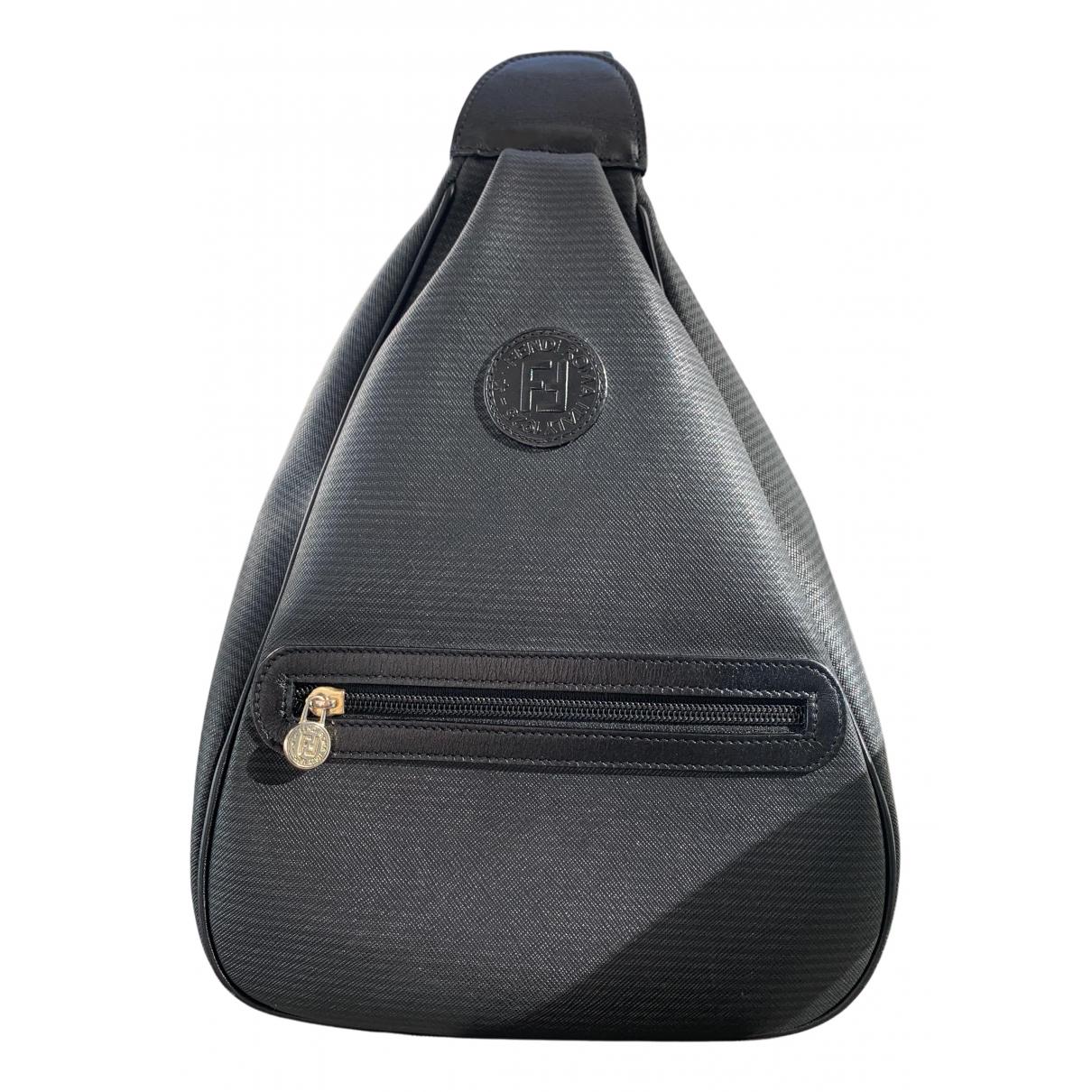 Fendi N Black Cloth backpack for Women N