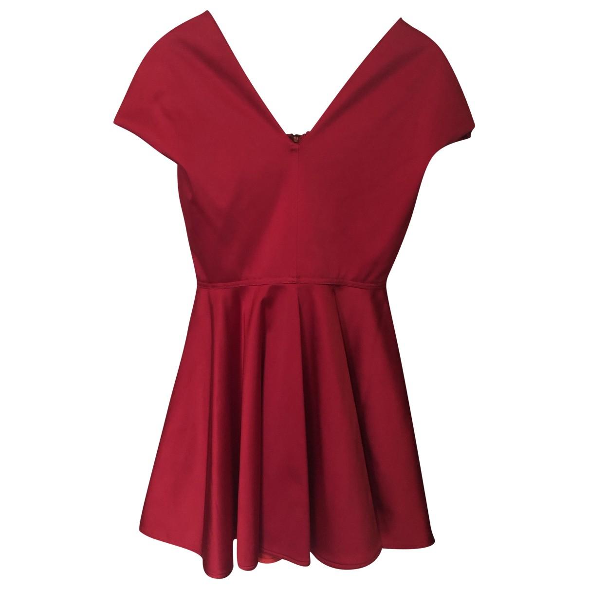 Emilio De La Morena - Robe   pour femme en soie - rouge