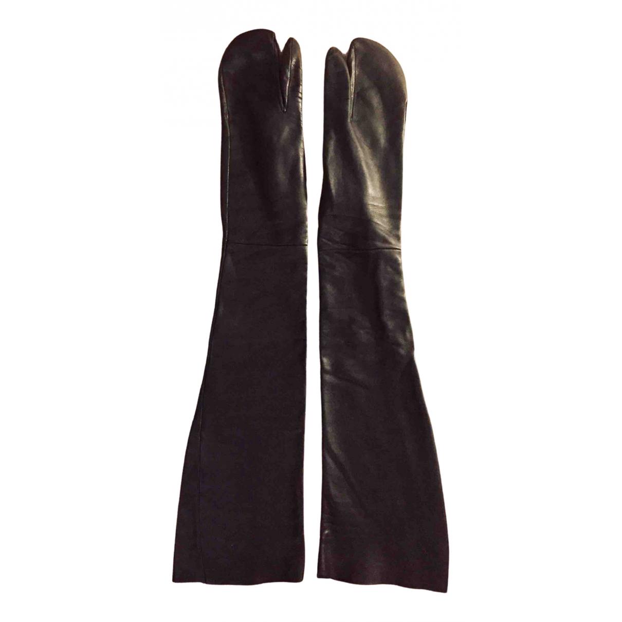 Maison Martin Margiela - Gants   pour femme en cuir - noir