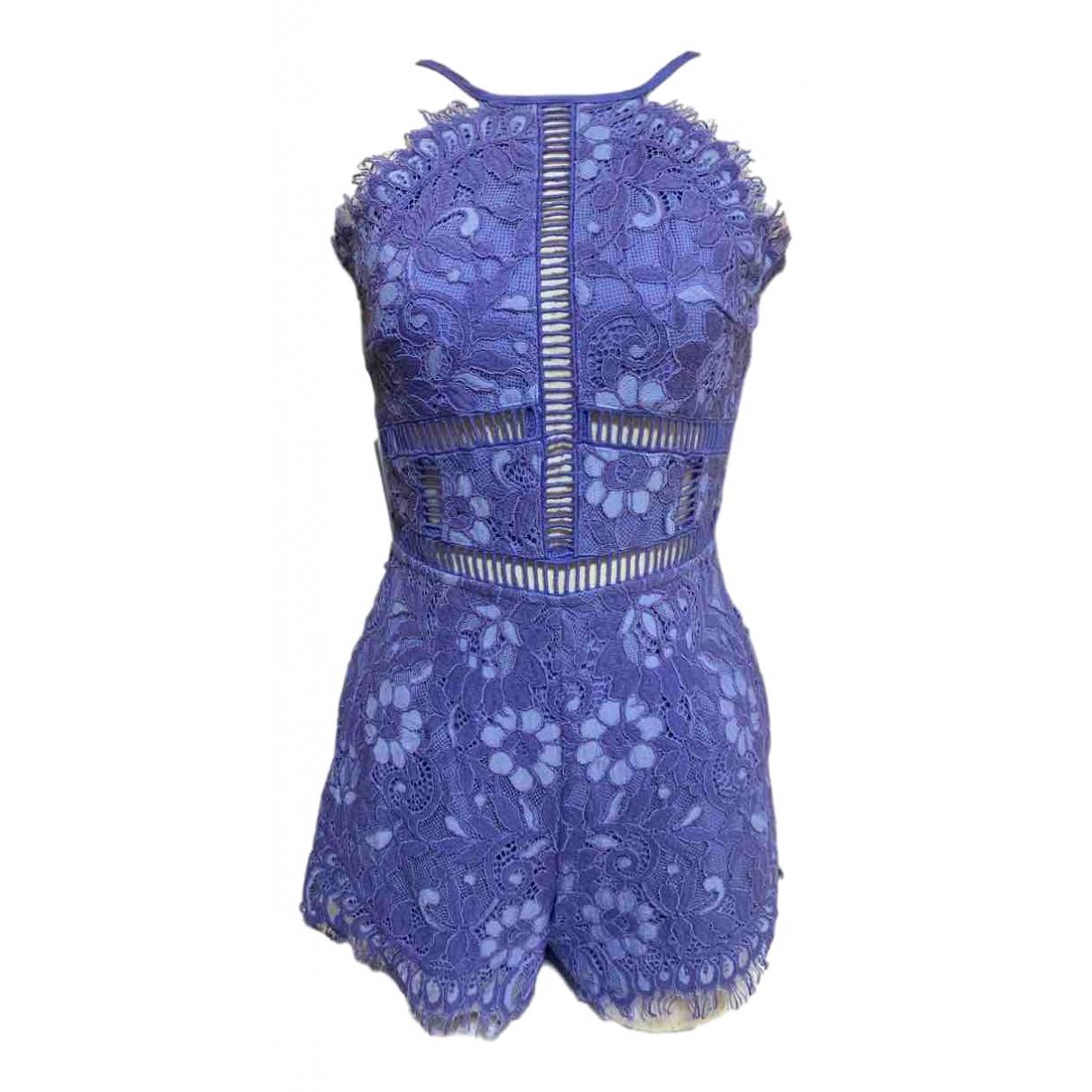 Nbd - Combinaison   pour femme en coton - bleu