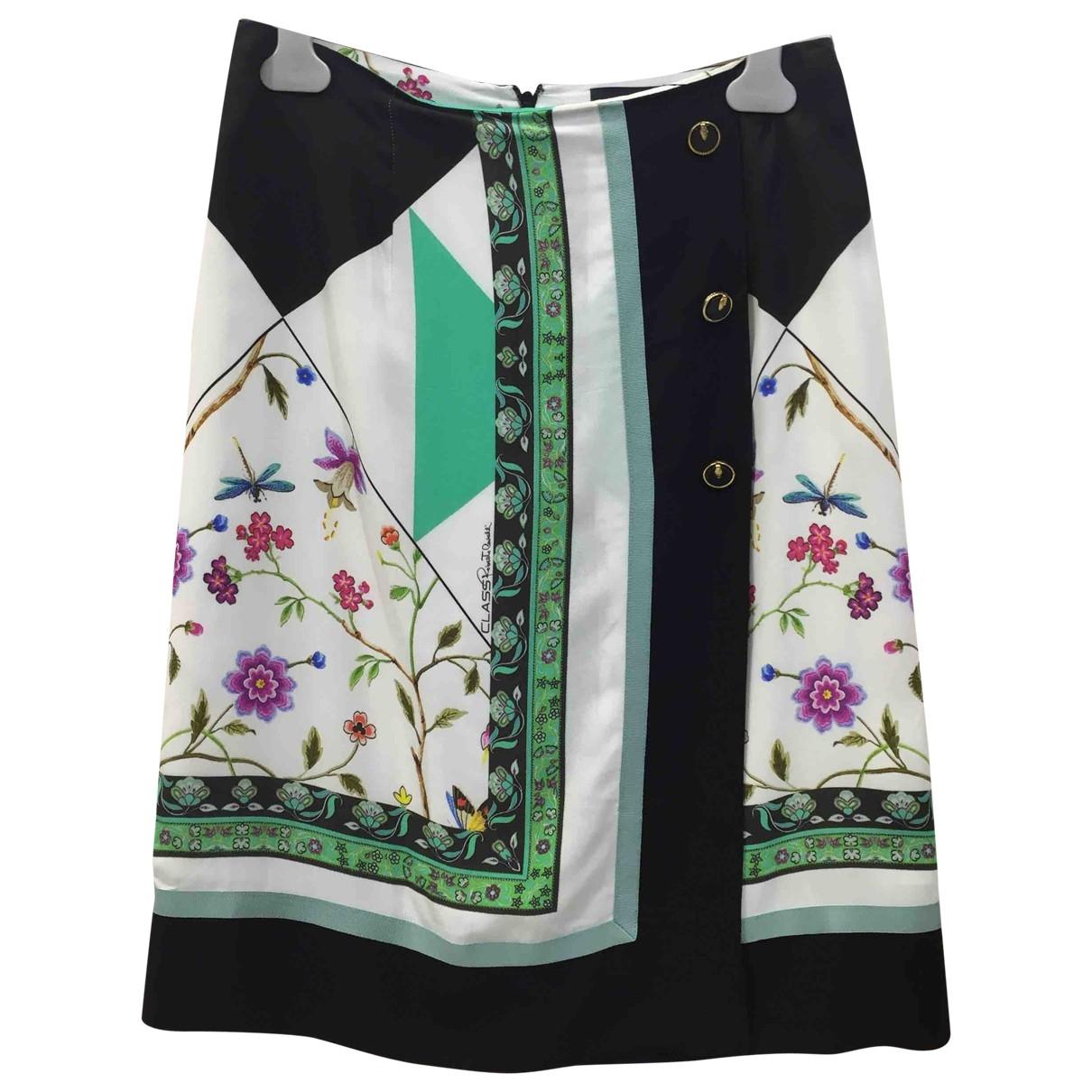 Roberto Cavalli \N White Silk skirt for Women M International