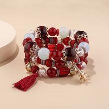 3pcs Beaded Bracelet