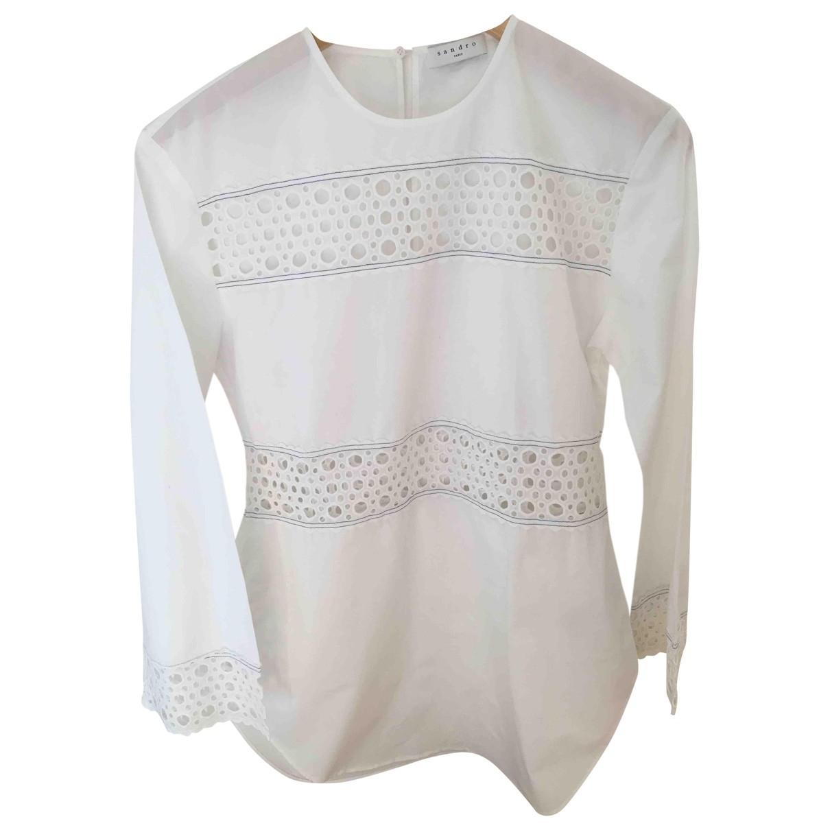 Sandro \N White Cotton  top for Women 36 FR