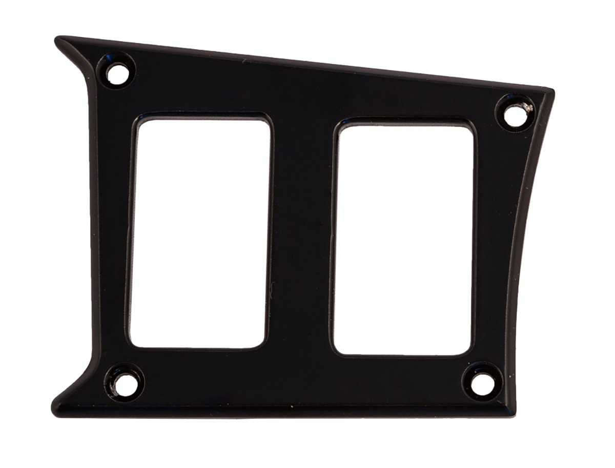 PRP Seats ODL-217342 Gloss Black Center Dash, Left Side 2 Switch Plate Polaris RZR XP/XP4 1000   XP/XP Turbo 1000