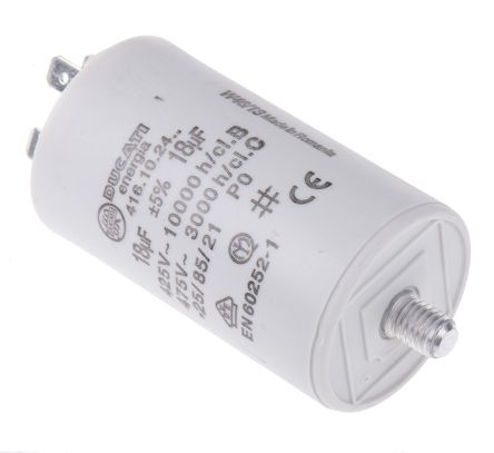 Ducati Energia 18μF Polypropylene Capacitor PP 450V ac ±5% Tolerance Stud Mount 4.16.10 Series