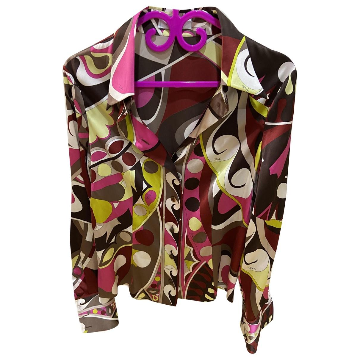 Emilio Pucci \N Multicolour Silk  top for Women 42 IT