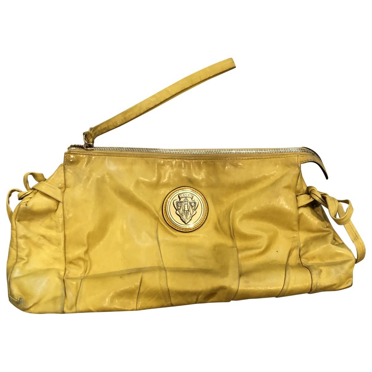 Gucci Hysteria Clutch in  Gelb Leder