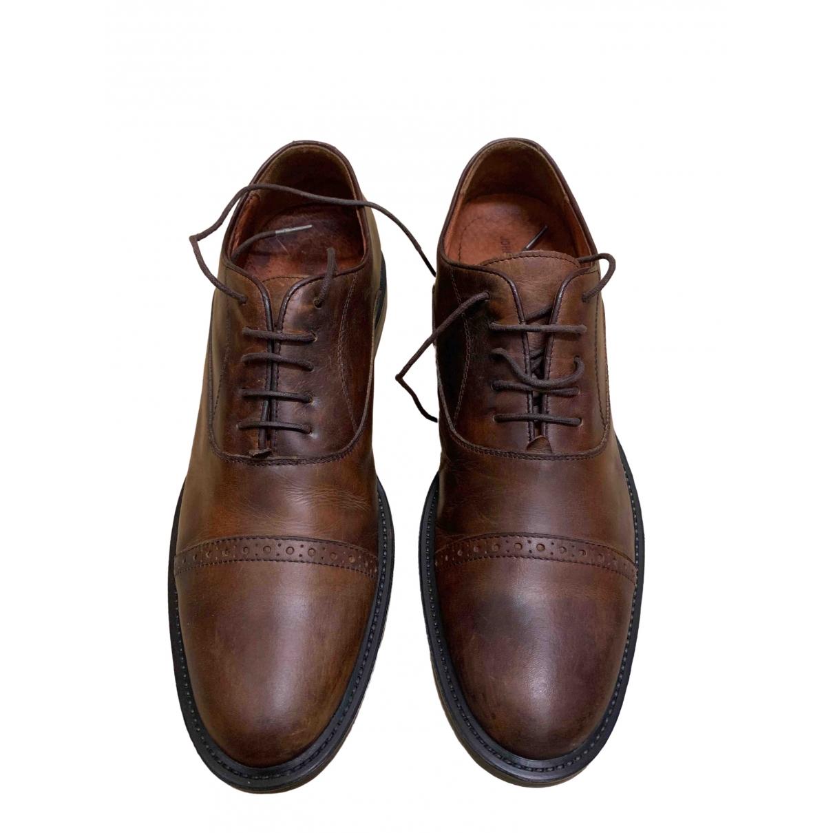 Johnston And Murphy - Derbies   pour homme en cuir - marron