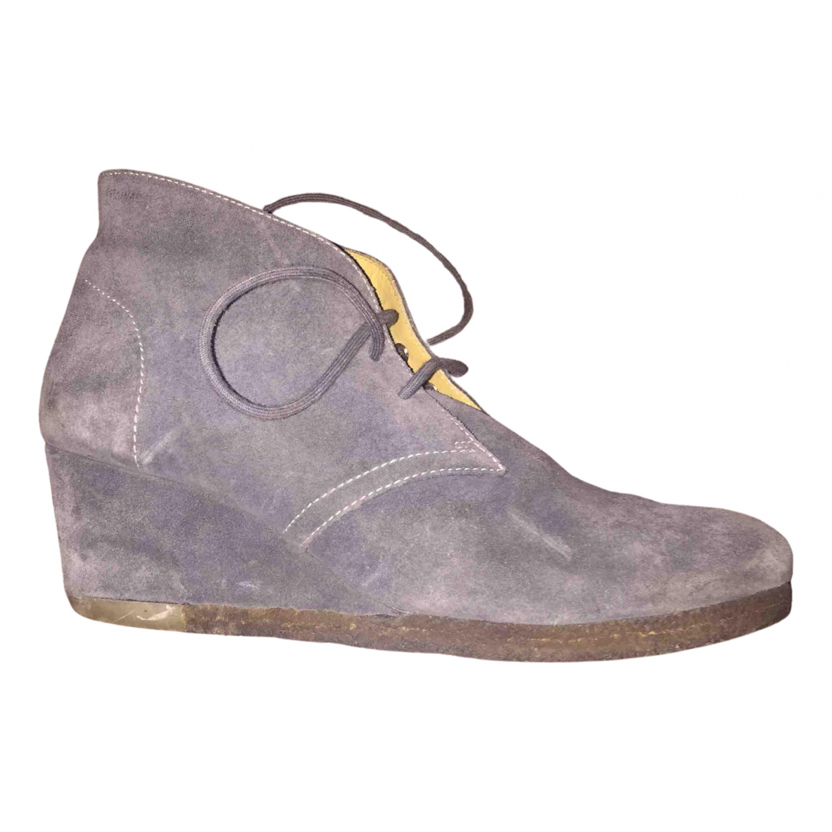 Clarks N Grey Suede Ankle boots for Women 39 EU