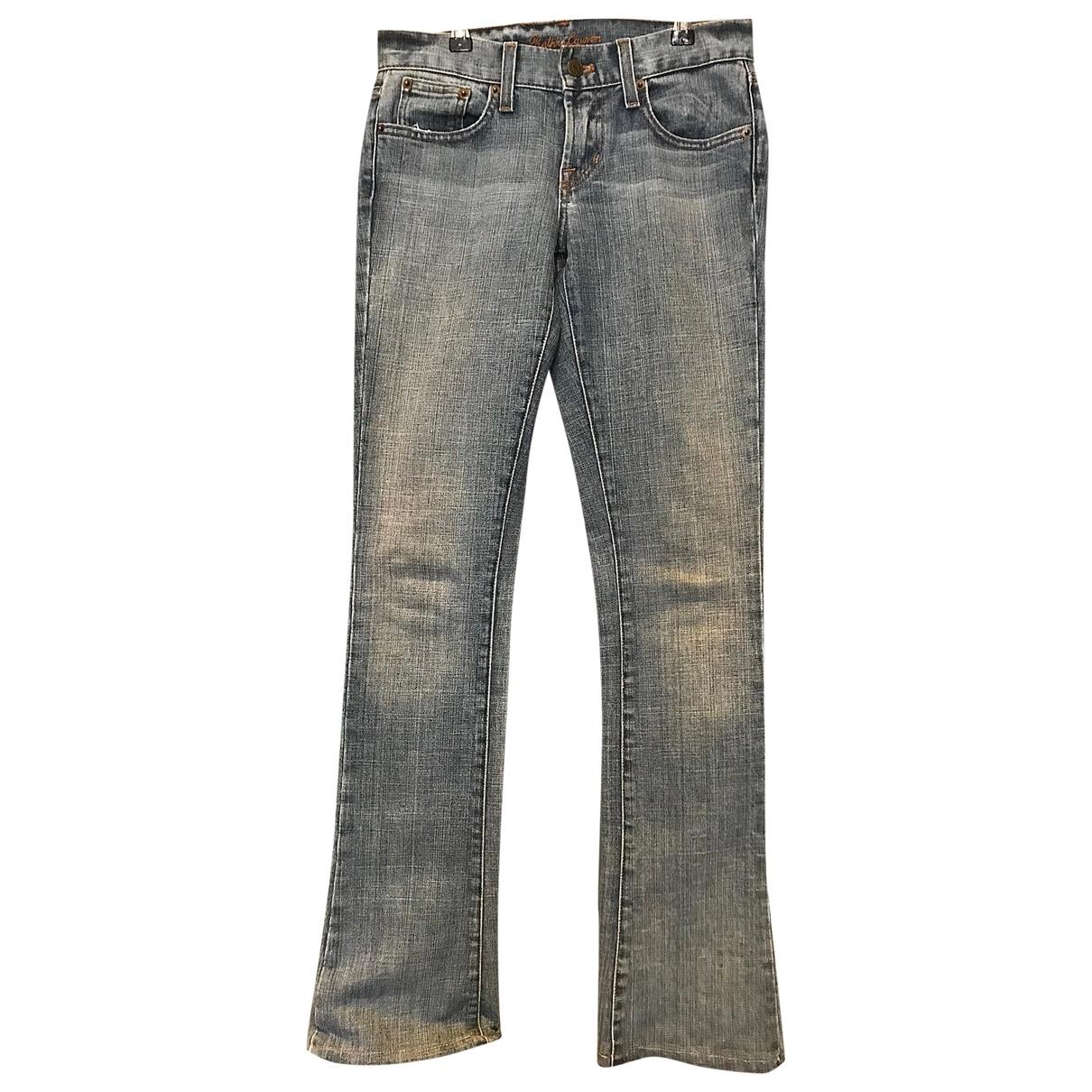 Ralph Lauren \N Blue Denim - Jeans Jeans for Women 25 US