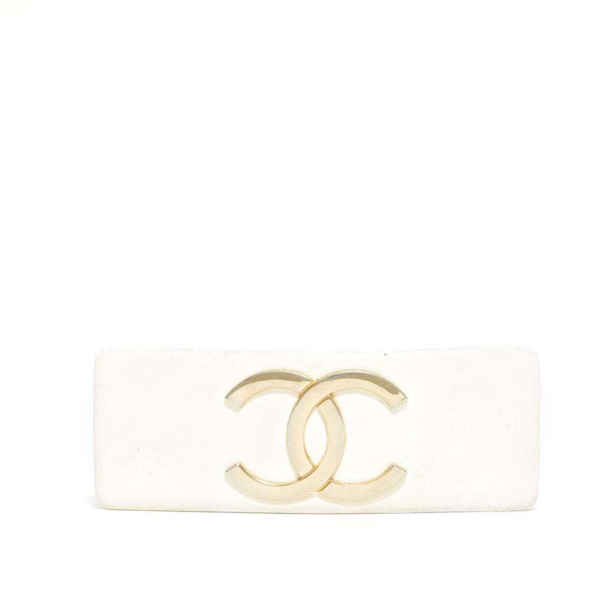 Chanel CC Haarschmuck in  Gold Leder