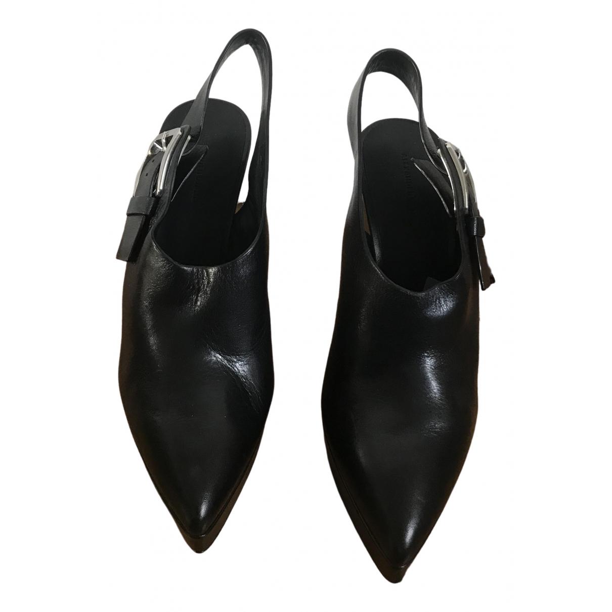 Alexander Wang \N Black Leather Mules & Clogs for Women 40 EU