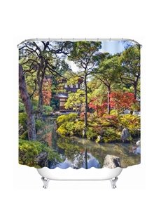 Gorgeous Courtyard View 3D Printed Bathroom Waterproof Shower Curtain