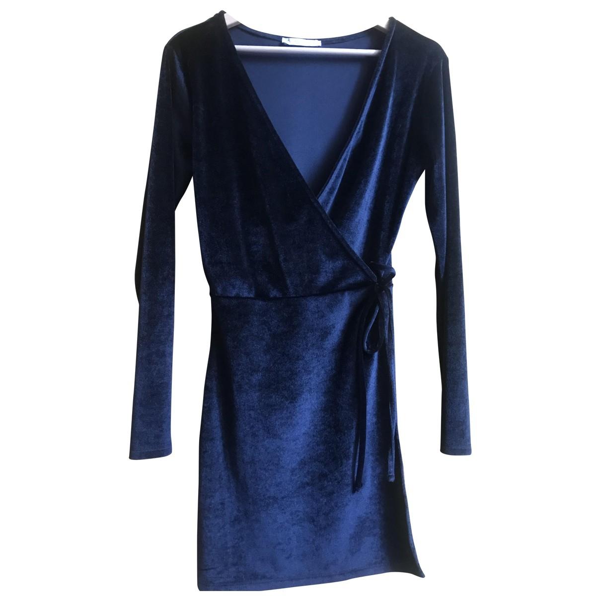 Zara - Robe   pour femme en velours - noir