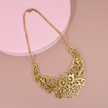Hollow Out Flower Engraved Necklace