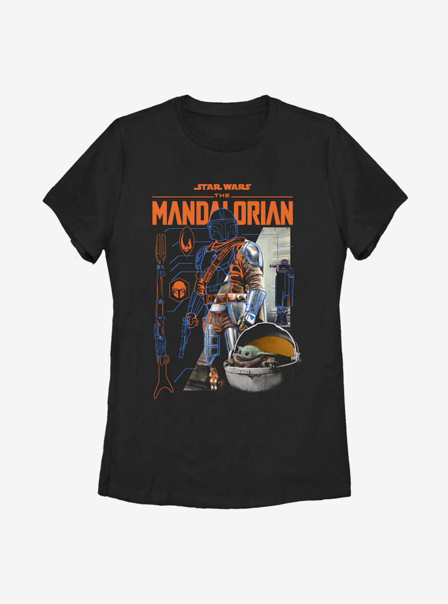 Star Wars The Mandalorian Specs Womens T-Shirt