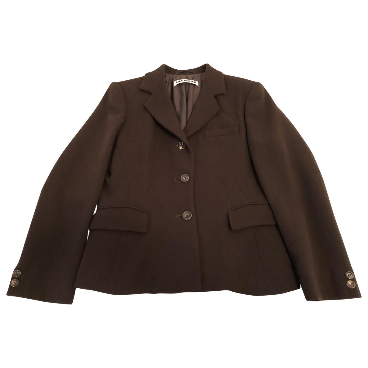 Jil Sander \N Brown Wool jacket for Women 40 IT