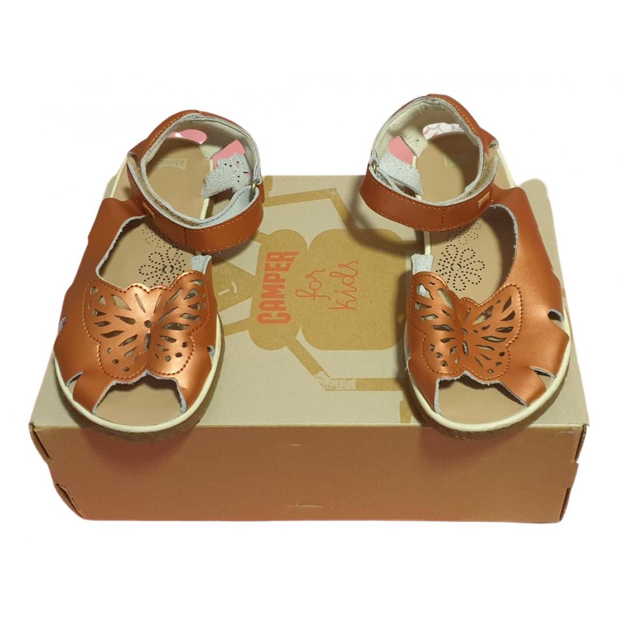Camper \N Metallic Leather Sandals for Kids 34 FR