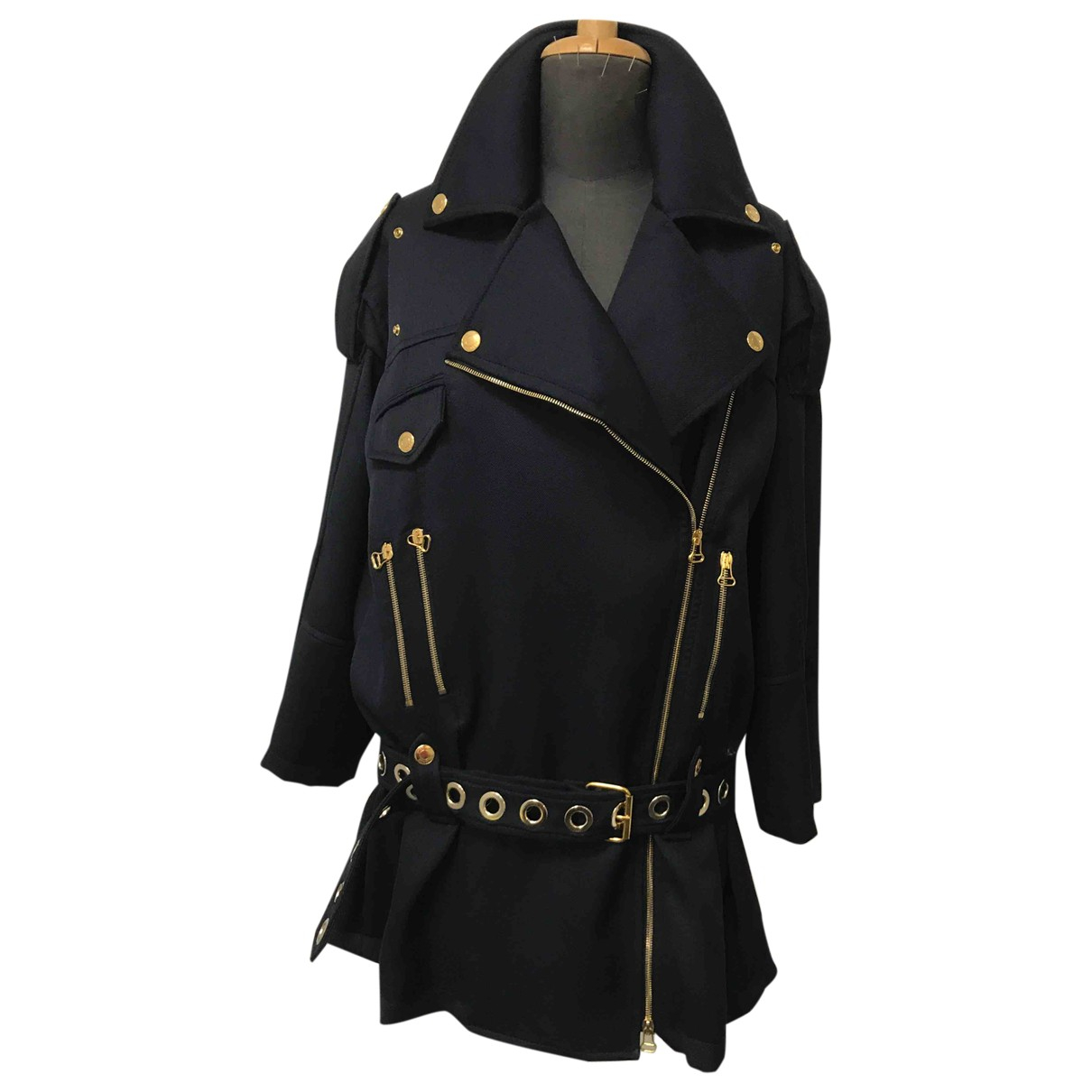 Pierre Balmain N Blue Wool coat for Women 40 IT