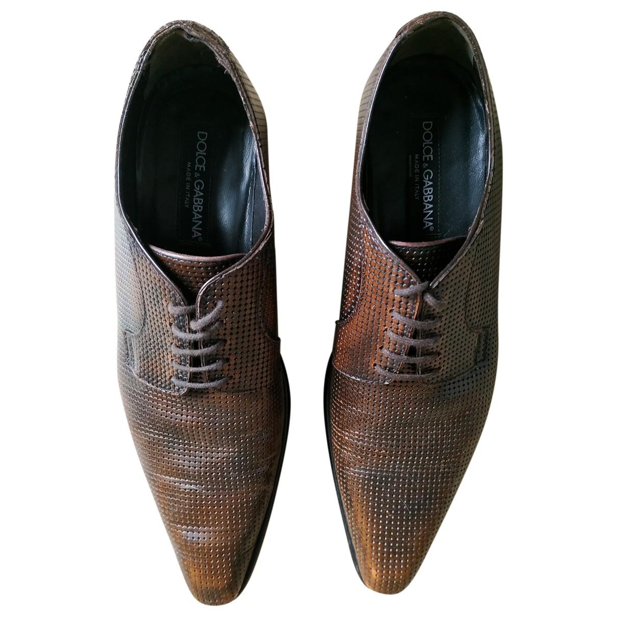 Dolce & Gabbana - Derbies   pour homme en cuir - marron
