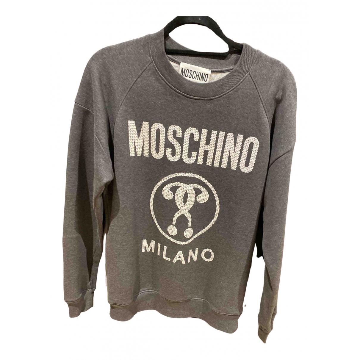 Moschino N Grey Cotton Knitwear & Sweatshirts for Men 36 UK - US