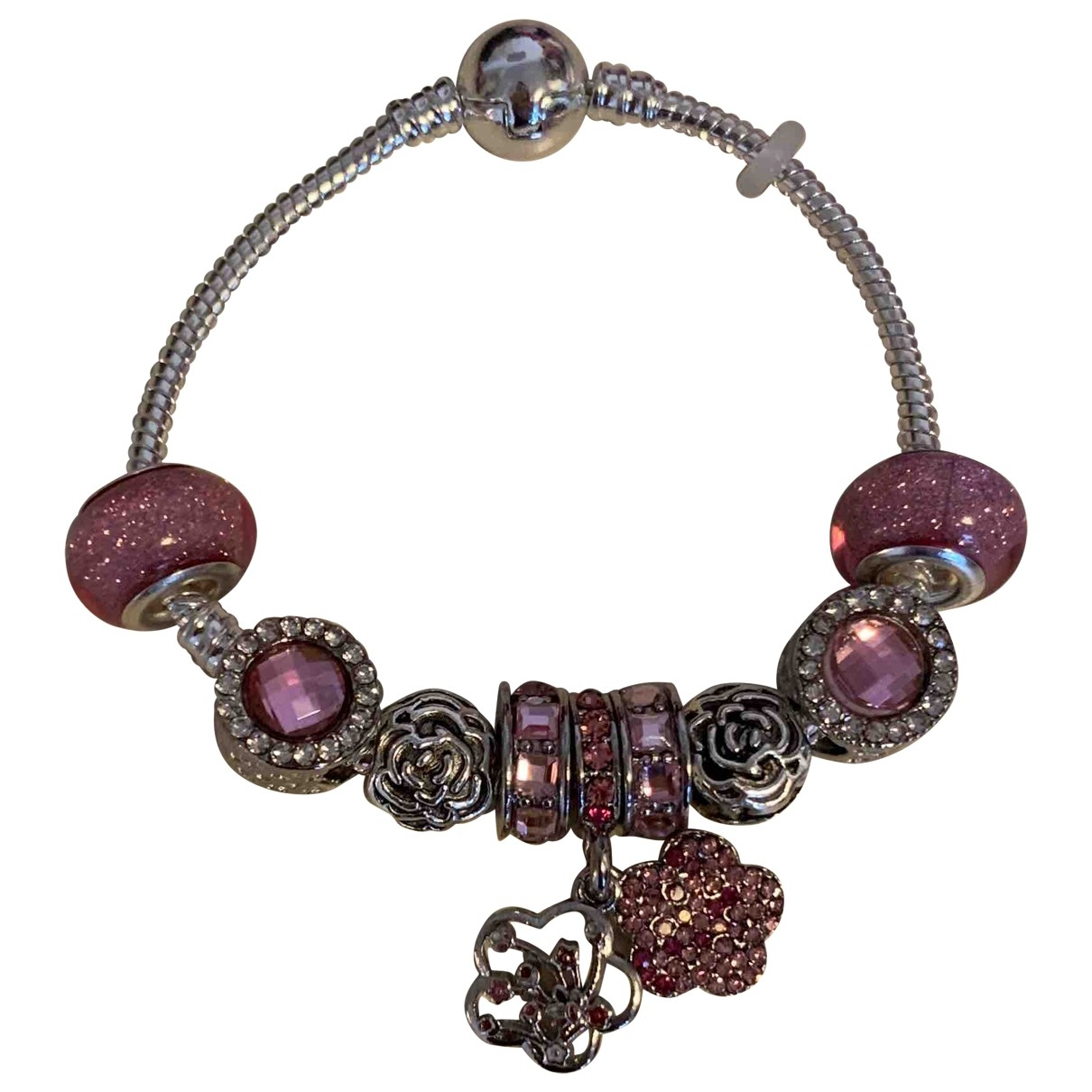 Non Signe / Unsigned \N Armband in  Rosa Silber