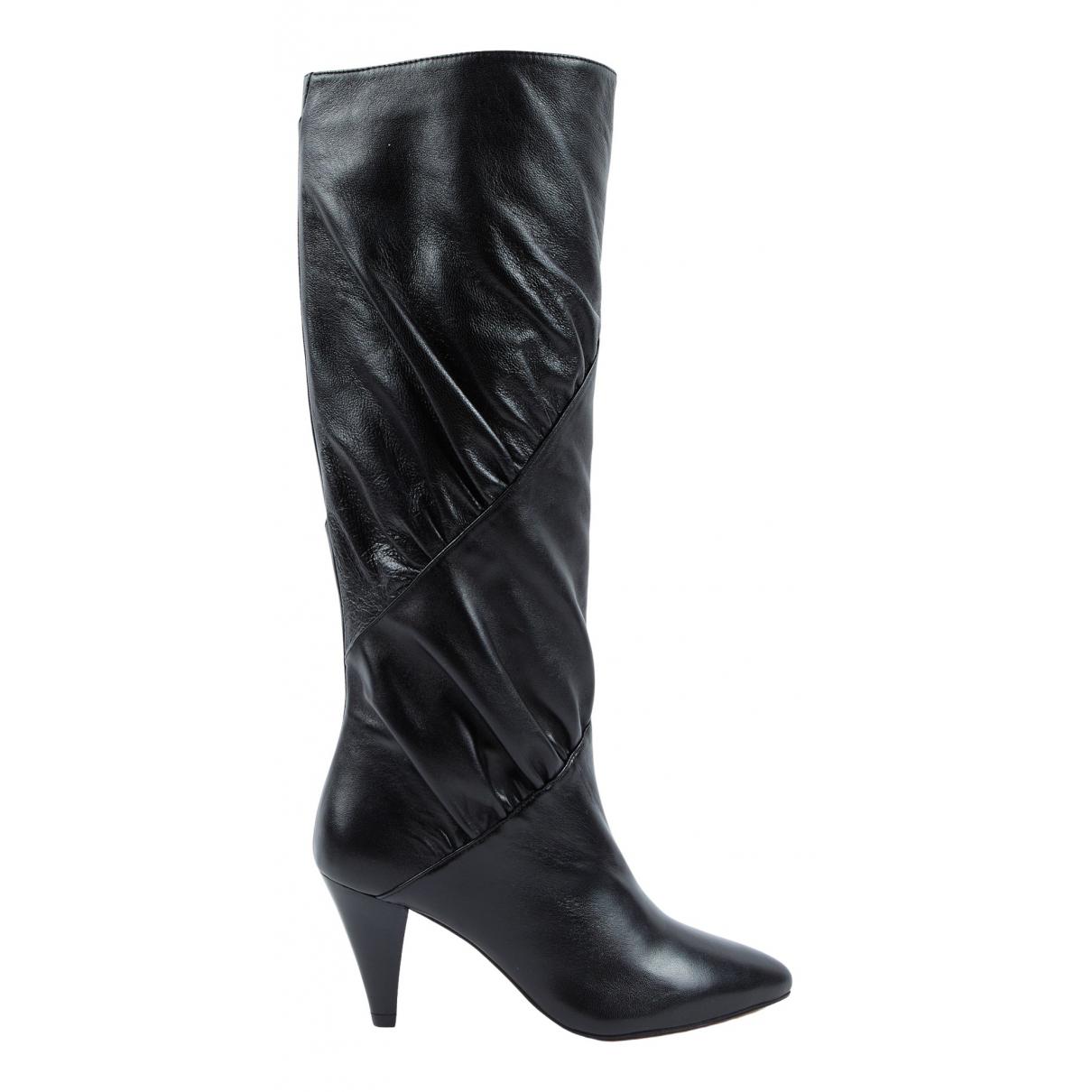 Ba&sh N Black Leather Boots for Women 36 EU