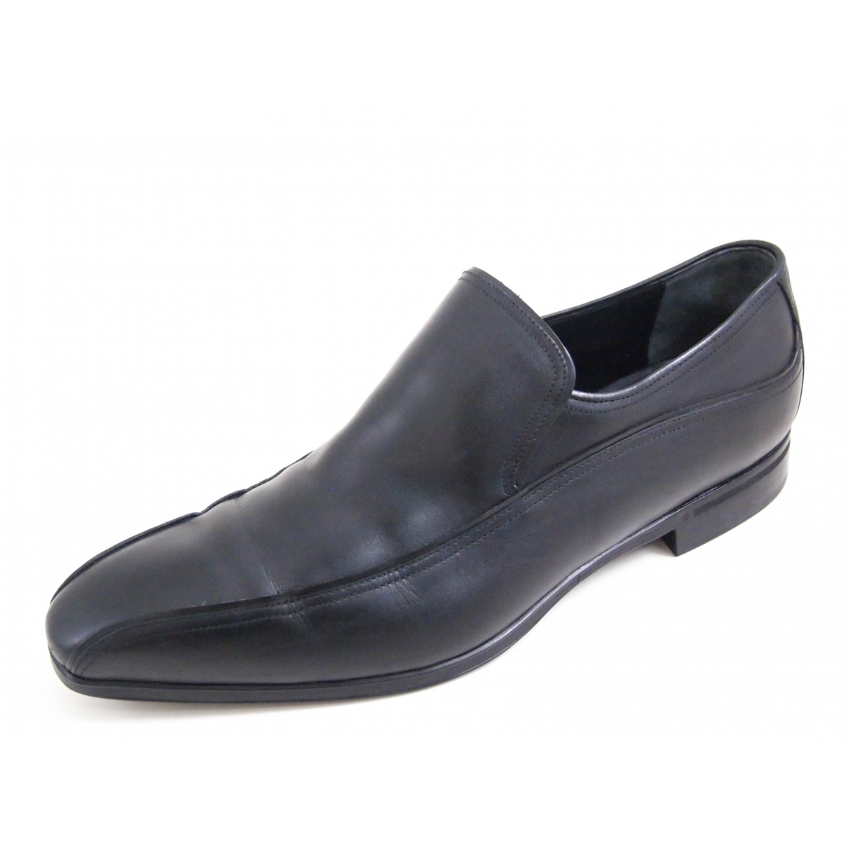 Gucci \N Black Leather Flats for Men 41.5 EU