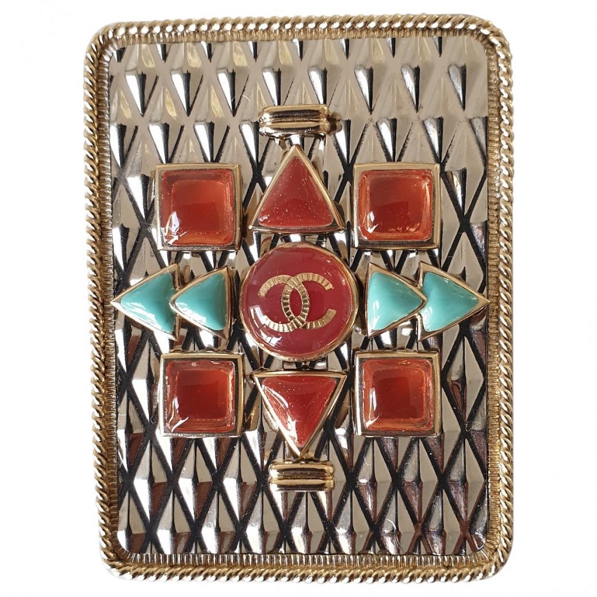 Chanel - Broche   pour femme en acier - dore