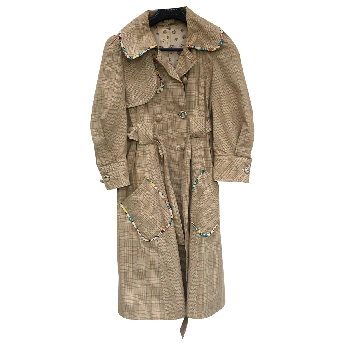 Kenzo \N Beige Cotton Trench coat for Women 38 FR