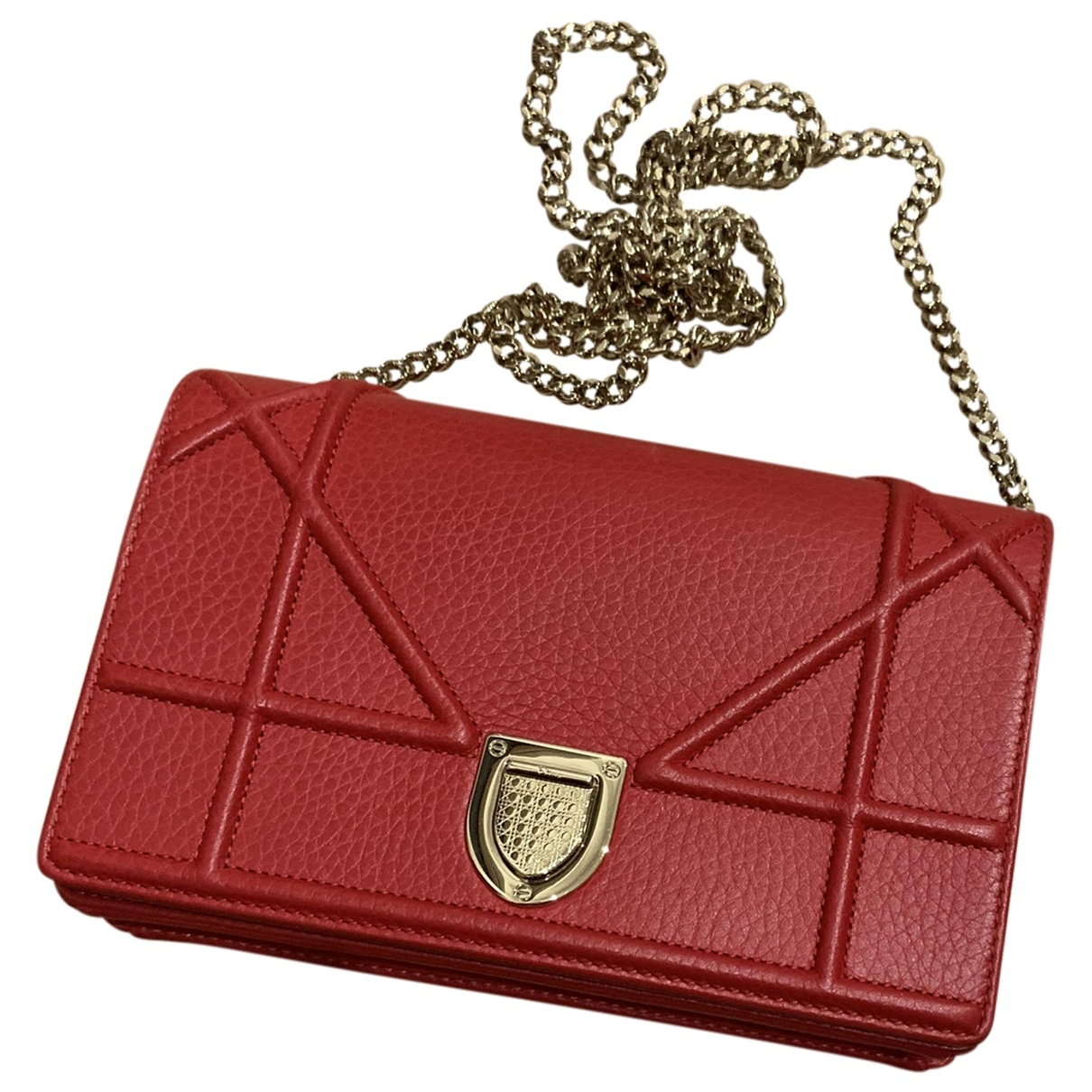 Dior Diorama Red Leather Clutch bag for Women \N