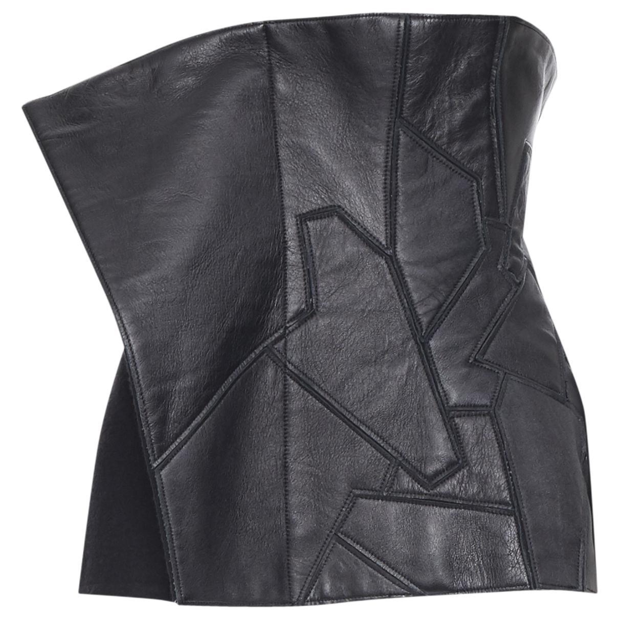 Yohji Yamamoto \N Black Leather  top for Women 2 US