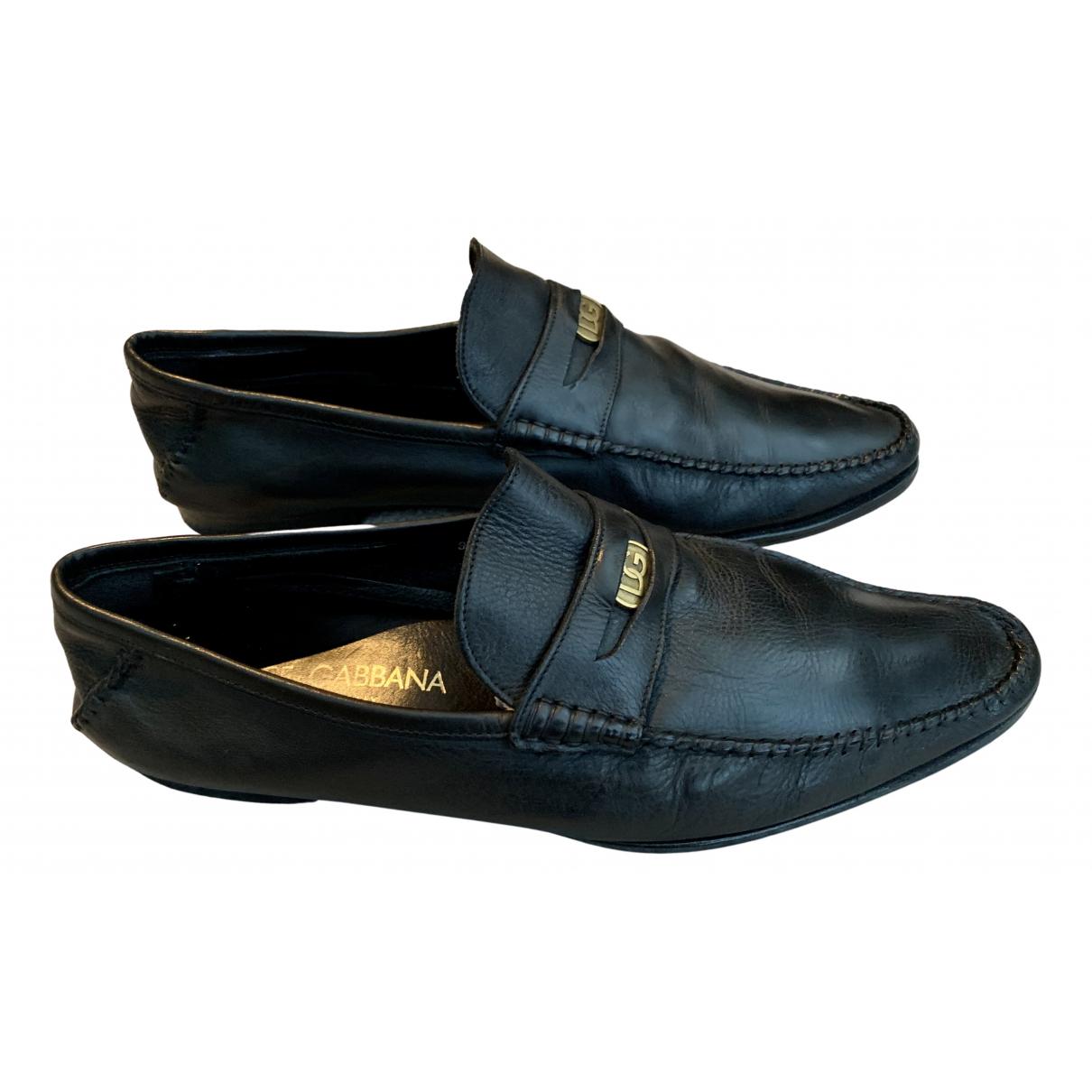 Dolce & Gabbana \N Mokassins in  Schwarz Leder