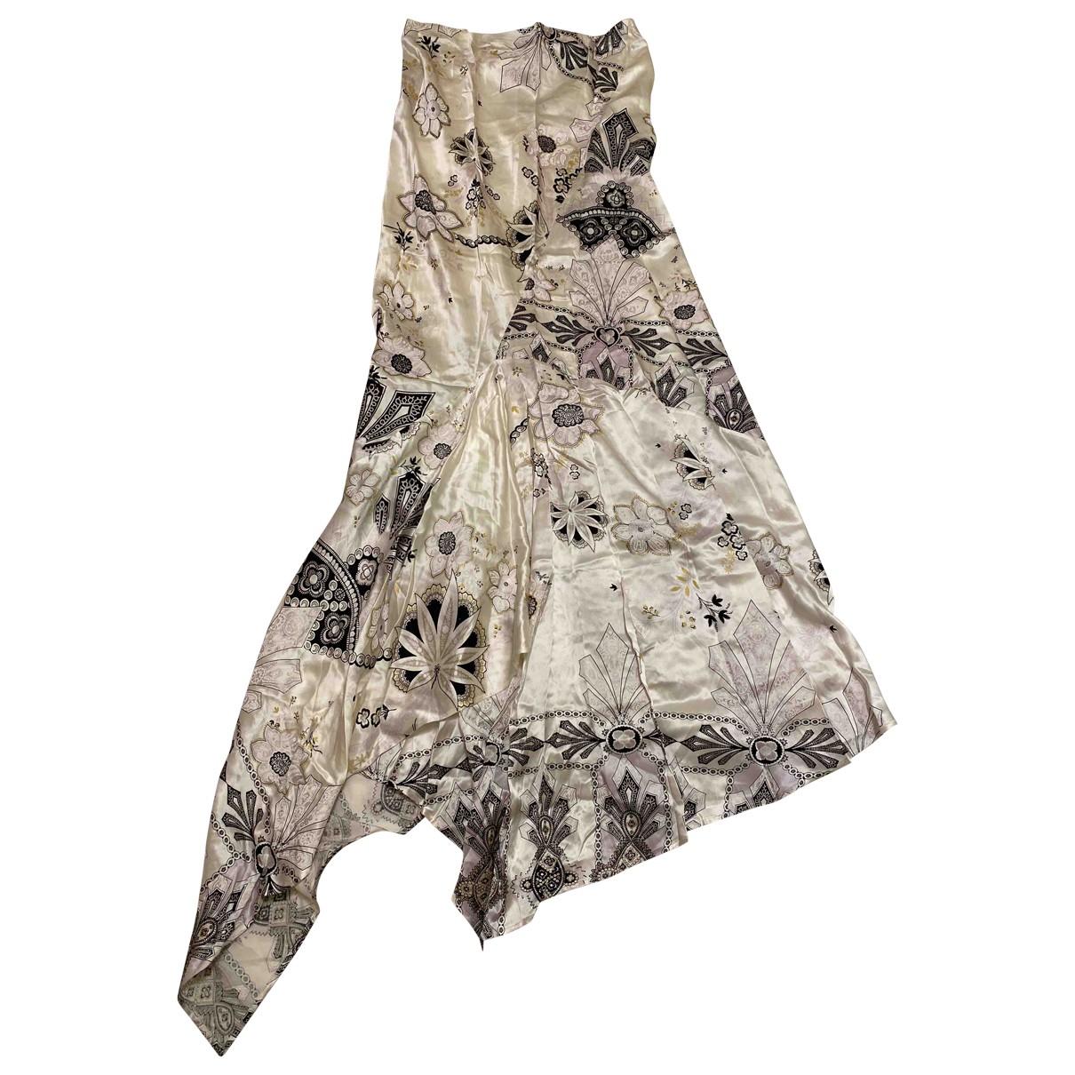Roberto Cavalli \N White Silk skirt for Women 42 IT