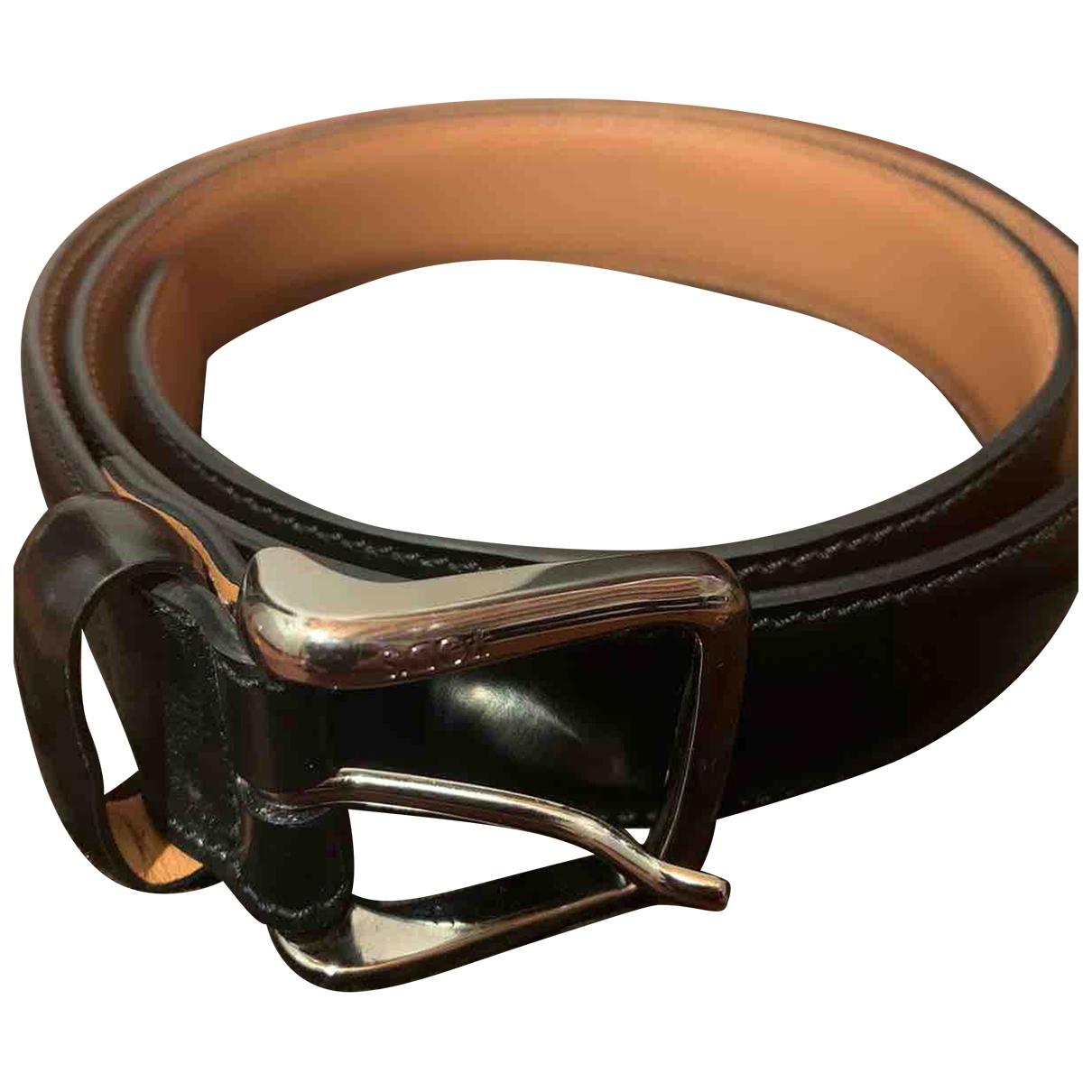 Tod's \N Black Leather belt for Men 95 cm